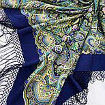 Жіноче щастя 1906-14, павлопосадский хустку (шаль) з ущільненої вовни з шовковою бахромою в'язаній, фото 4