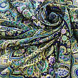 Жіноче щастя 1906-14, павлопосадский хустку (шаль) з ущільненої вовни з шовковою бахромою в'язаній, фото 7