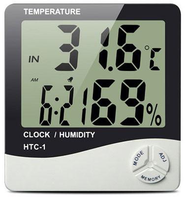 Цифровий термометр годинник гігрометр LCD 3 в 1
