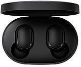 Наушники беспроводные Bluetooth MDR MI Redmi AirDots в кейсе, черные, фото 2