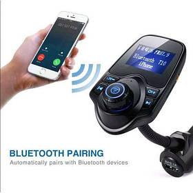 ФМ FM трансмітер модулятор авто MP3 Bluetooth T10