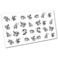Декор для маникюра Слайдер дизайн Вензеля и узоры №1010