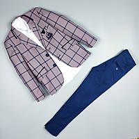 Костюм тройка пиджак рубашка узкие брюки оптом для мальчика 5-9 лет Турция, фото 1