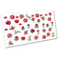 Декор для маникюра Слайдер дизайн Цветы №1043