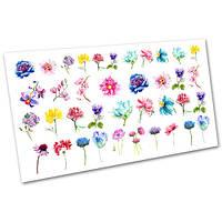 Водные слайдеры для дизайна ногтей Цветы №1045