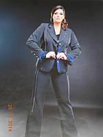 Костюм с шелковыми оборками на рукавах, фото 1