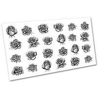 Слайдер-дизайн (водные наклейки, фотодизайн) для ногтей Цветы №1048