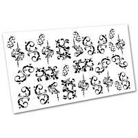 Слайдер-дизайн наклейки на ногти для маникюра водные Вензеля и узоры №1085