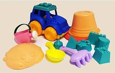 Детский мягкий силиконовый набор для песочницы с трактором Metr+ HG-770