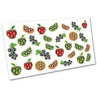 Слайдер-дизайн наклейки на ногти для маникюра водные Фрукты, овощи №1109