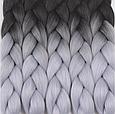 Канекалон Омбре різнокольоровий Палітра 80 кольорів Довжина 60 ± 5 см Вага 100 ± 5 г Термостійкий коса Jumbo, фото 5