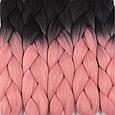 Канекалон Омбре різнокольоровий Палітра 80 кольорів Довжина 60 ± 5 см Вага 100 ± 5 г Термостійкий коса Jumbo, фото 9