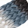 Канекалон Омбре різнокольоровий Палітра 80 кольорів Довжина 60 ± 5 см Вага 100 ± 5 г Термостійкий коса Jumbo, фото 8