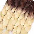 Канекалон Омбре різнокольоровий Палітра 80 кольорів Довжина 60 ± 5 см Вага 100 ± 5 г Термостійкий коса Jumbo, фото 7