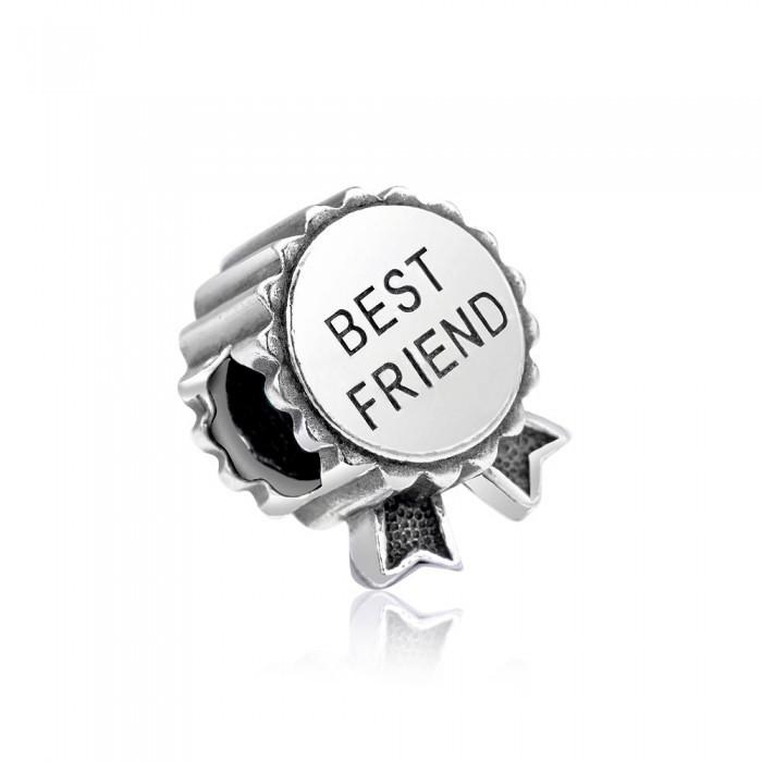 Срібна підвіска шарм Best Friend