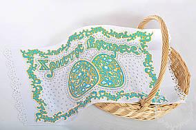 Бирюзовая пасхальные яйца-салфетка