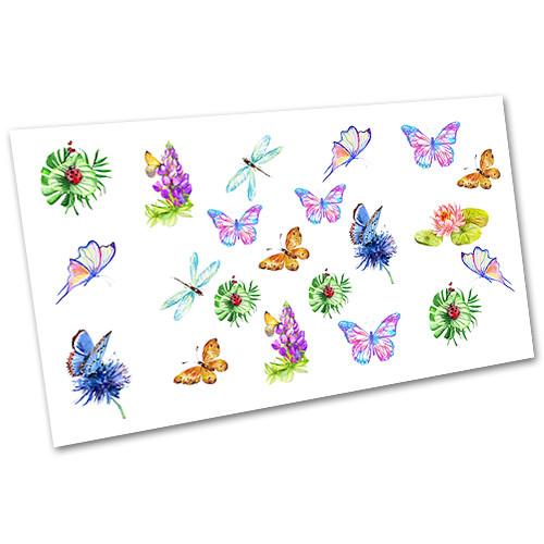 Слайдер водний для дизайну нігтів Метелики №1236