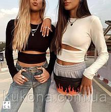 Модный женский топ Размеры: 42-44, 46-48 Цвета: чёрный, молочный