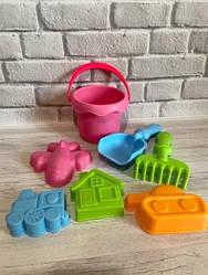 Детский силиконовый игровой мягкий набор для песочницы (пасочки) Metr+ 858-3