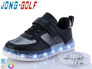 Кроссовки детские с подсветкой подошвы JongGolf 10127 кабель Usb р-ры 26-31