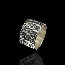 Серебряное широкое кольцо Диор