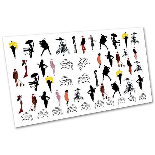 Наклейки для слайдер-дизайну водні Мода, стиль №1483
