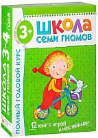 Полный годовой курс. Для занятий с детьми от 3 до 4 лет (комплект из 12 книг) Школа 7 Гномов (Коробка)