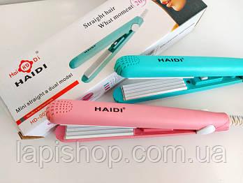 Мини утюжок-гофре для волос Haidi HD-002