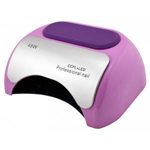 УФ лампа для нігтів Beauty nail 18K CCFL LED 48W сушарка сенсор Бузковий