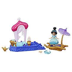 Кукла Принцессы Дисней Маленькое королевство Жасмин и волшебный ковер Hasbro E0248/E0072