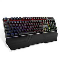 Механическая проводная игровая клавиатура с RGB подсветкой клавиш Havit HV-KB432L Black (черная)