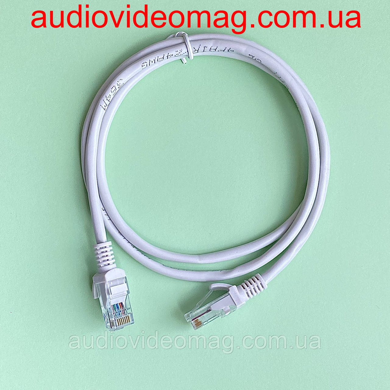 Патч-корд RJ-45 UTP 5e, длина 1 метр, интернет-кабель