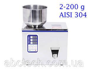 Дозатор весовой сыпучих продуктов до 200 грамм вибролотковый AF-200 линейный дозатор для фасовки в пакет Сталь 304