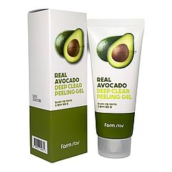 Відлущуючий пілінг гель з екстрактом авокадо FarmStay Real Avocado Deep Clear Peeling Gel