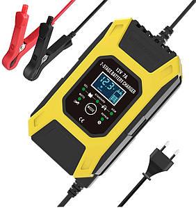 Умное импульсное зарядное для автомобильного аккумулятора FOXSUR FBC1207D 12V 7A