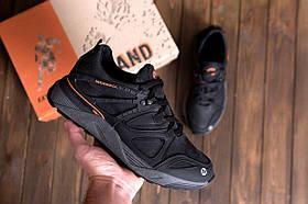 Чоловічі чорні шкіряні кросівки MERRELL