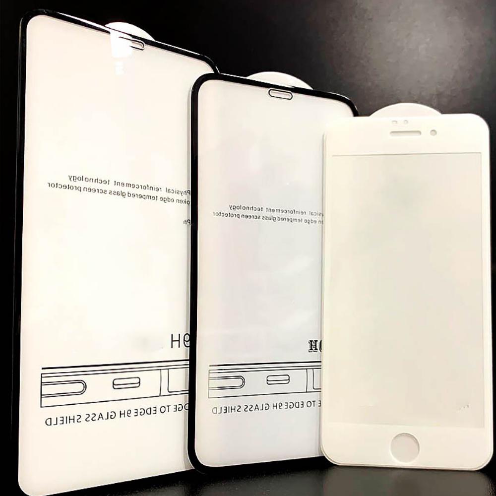Защитное стекло Samsung A50 A505 2019 6D черное