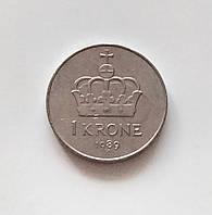1 крона Норвегия 1989 г., фото 1