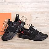 Чоловічі шкіряні чорні кросівки Jordan, фото 3