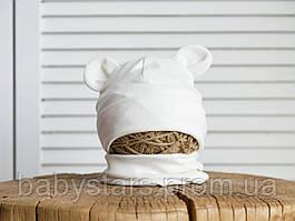 "Набор шапка с манишкой ""Bruin"", молочная"