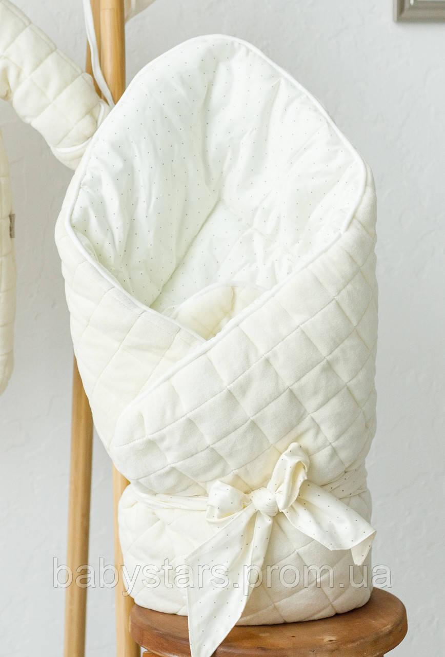 """Велюровый конверт-одеяло """"Tessera"""", ванильный"""