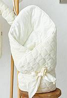 """Велюровый конверт-одеяло """"Tessera"""", ванильный, фото 1"""