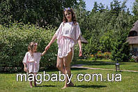Комплект шифоновых пончо Шарм, розовый, фото 1