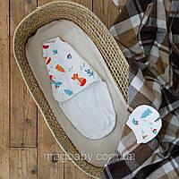 Евро пеленка на липучках c шапочкой Part, Лесная быль 0-3 мес., фото 1