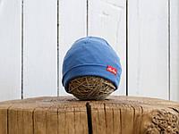 """Трикотажная шапка """"Klin"""", Синяя, фото 1"""
