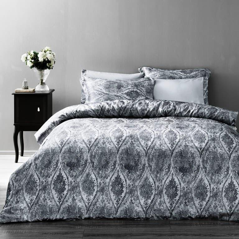 Постельное белье Tivolyo Home  DANTE  krinkle двуспальный - евро, серый