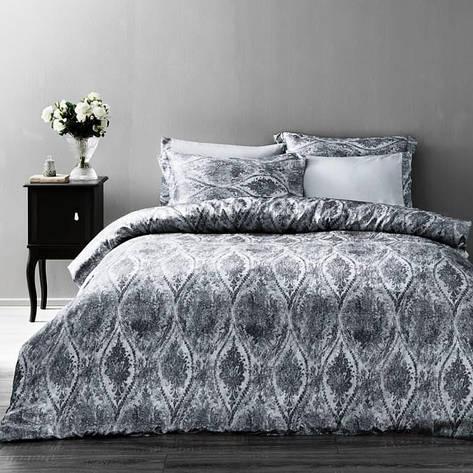 Постельное белье Tivolyo Home  DANTE  krinkle двуспальный - евро, серый, фото 2