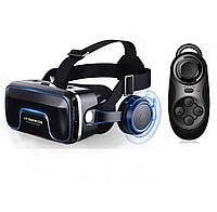 Очки виртуальной реальности VR SHINECON Original 10.0 + пульт для геймеров Черные (0550)