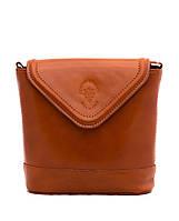 Женская  сумка из натуральной кожи фабричная (отшита  в Италии) рыжего цвета, на одну ручку,одно отделение