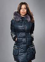 Классическая черная куртка на молнии с карманами